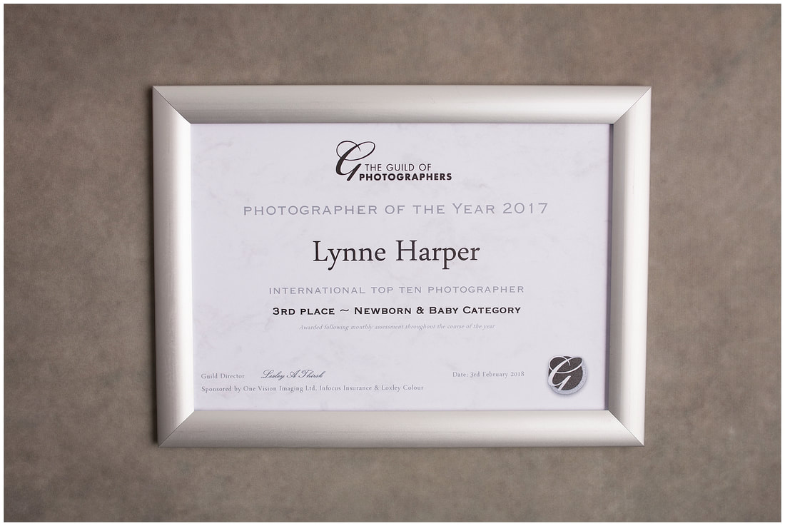 Lynne Harper International Top 3 newborn photographer certificate
