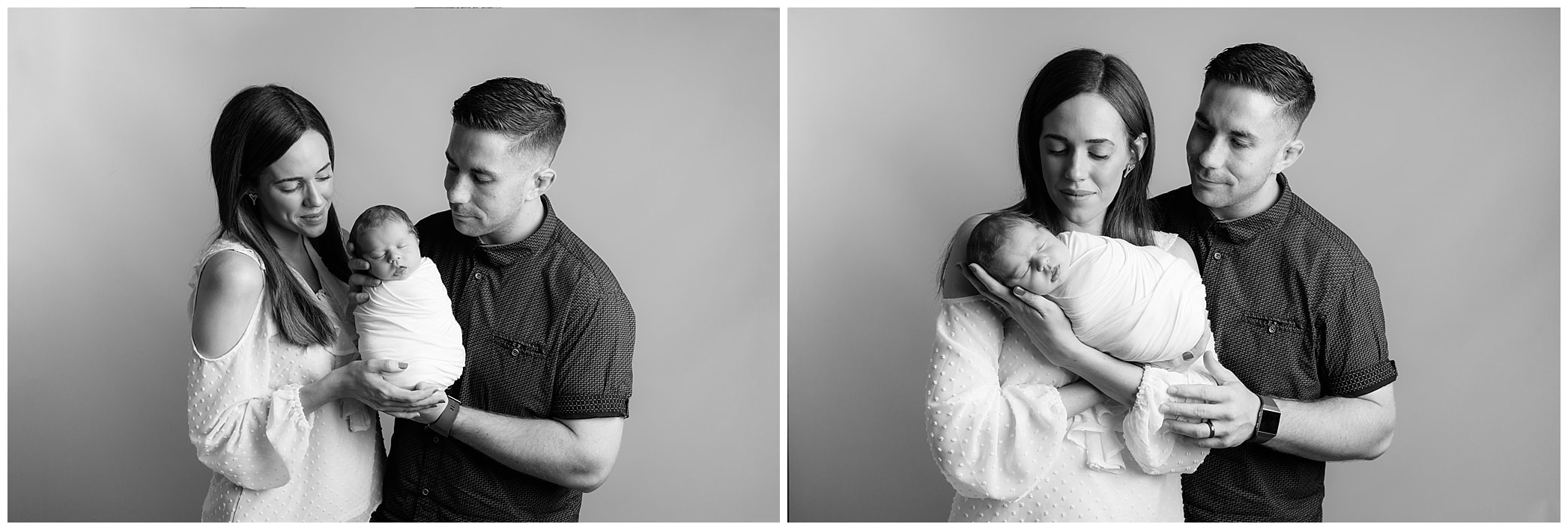 Black and White Parent Images with newborn by Lynne Harper Photography